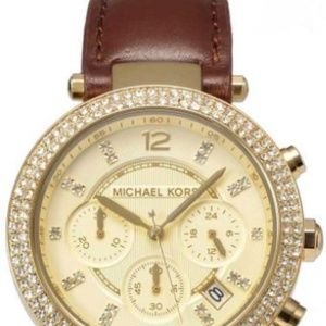 Michael Kors Brown and Gold Leather Watch